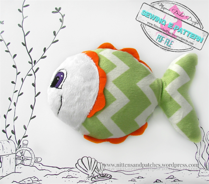 Stuffed Animals, e-Pattern, Starfish and Fish, Baby Toys | Mignon ...